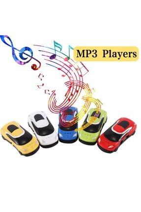 Bidolustore Mini Araba Mp3 Çalar + Kulaklık + Şarj Kablosu (renkli)