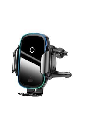 Baseus Light Electric Sensörlü Rgb Işıklı Kablosuz 15w Hızlı Şarj Araç Içi Telefon Tutucu Type-c
