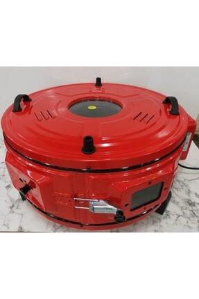 Şamdan 1000 T Dönerli Termostatlı Büyük Boy Yuvarlak Davul Fırın,,,kırmızı Renk