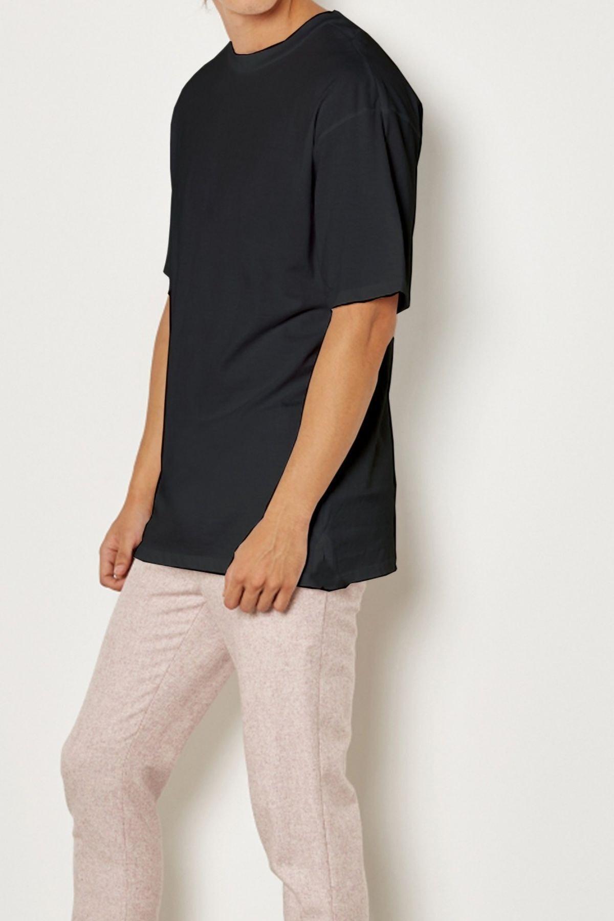 Relax&Basic Erkek Siyah Pamuklu Kısa Kollu Tişört 2
