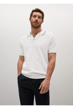 MANGO Man Kontrast Biyeli Dokuma Polo Gömlek
