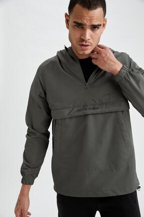 DeFacto Slim Fit Kapüşonlu Yazı Baskılı Sweatshirt