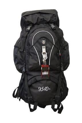 ck Unisex Siyah Büyük Kamp Dağcı 95litre Sırt Çantası Dağcı Sırt Çantası