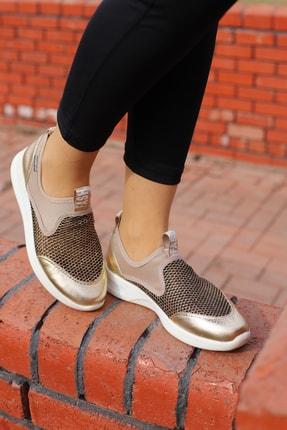 Hammer Jack Kadın Altın Rengi Bagsız Fileli Spor Ayakkabı