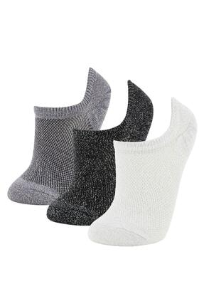 DeFacto Kadın Beyaz Patik Çorap 3'lü
