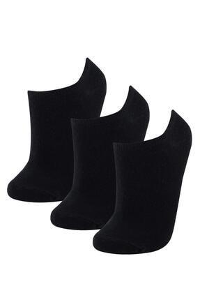 DeFacto Kadın Siyah Patik Çorap 3'lü
