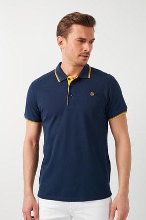 Buratti Erkek İndigo Pamuklu Polo Yaka T-shirt