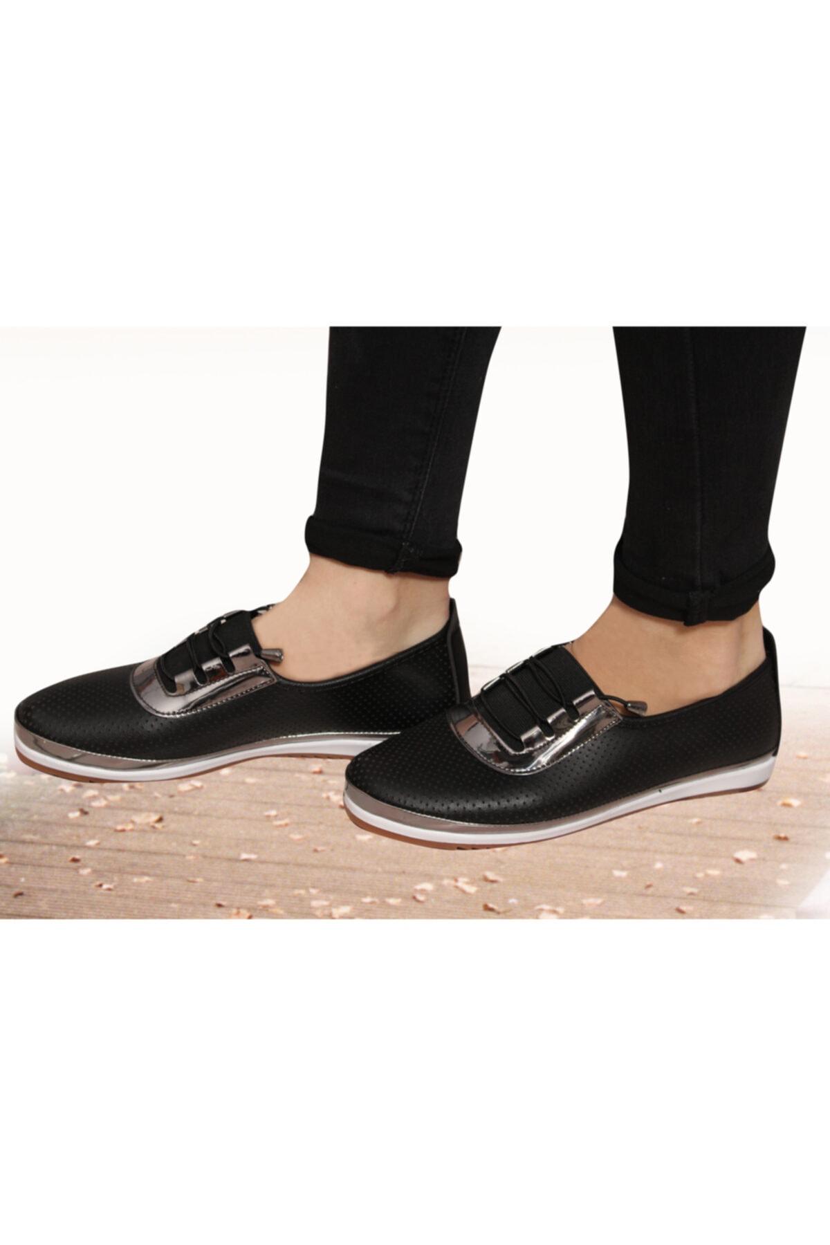 Witty Kadın Siyah Günlük Babet Ortapedik Ayakkabı 2