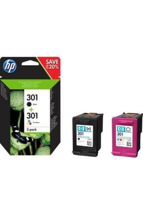 HP 301 Siyah Üç Renkli 2'li Pk Kartuş N9j72ae