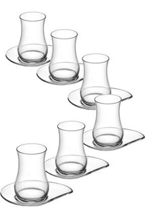LAV 12'li Eva Çay Seti 6 Adet Eva Çay Bardağı 6 Adet Eva Çay Tabağı