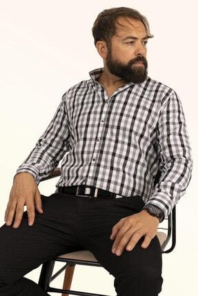 Etikmen Kareli Siyah Beyaz Erkek Gömlek