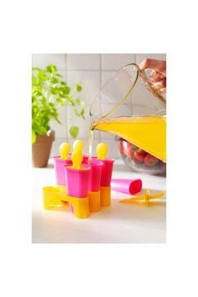 IKEA Dondurma Kalıbı Meridyendukkan 6lı 10 Cm Pembe-sarı Renk