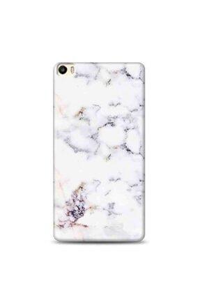 Desing World Huawei P8 Lite Uyumlu Beyaz Mermer Tasarımlı Telefon Kılıfı Bn72