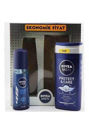 Nivea Men Pump Sprey + Duş Jeli Paketi