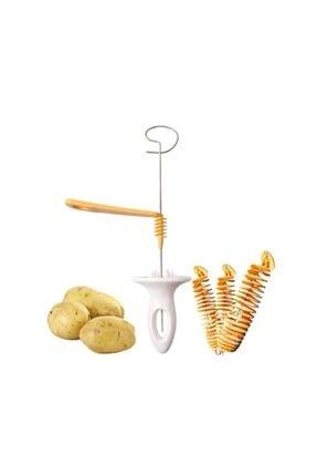 epazzar Patates Spiral Kesici Ve Şekillendirici Şişte Patates Kızartma Aparatı