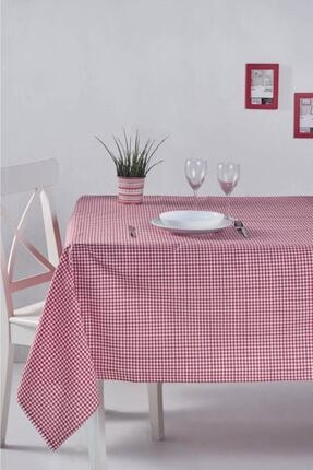 ZEYNEP ÇEYİZ Kırmızı Küçük Kare Desen Pötikareli Masa Örtüsü, Sofra Bezi, Piknik Örtüsü 80x80