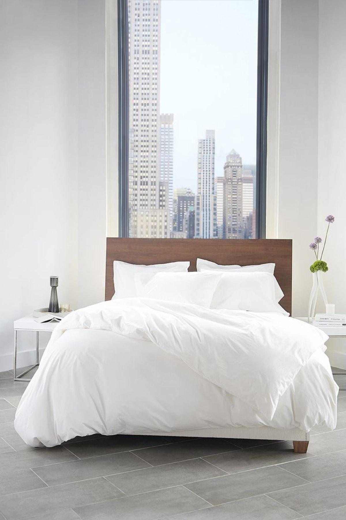 Tekstil Home Lüx Serisi Otel Tipi Düz Pamuk Saten Nevresim Takımı Çift Kişilik 1