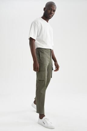 DeFacto Regular Fit Kargo Cepli Jogger Pantolon