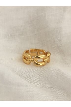 The Y Jewelry Kalın Zincir Yüzük