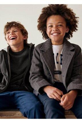 MANGO Kids Gri Erkek Çocuk Kırçıllı mont