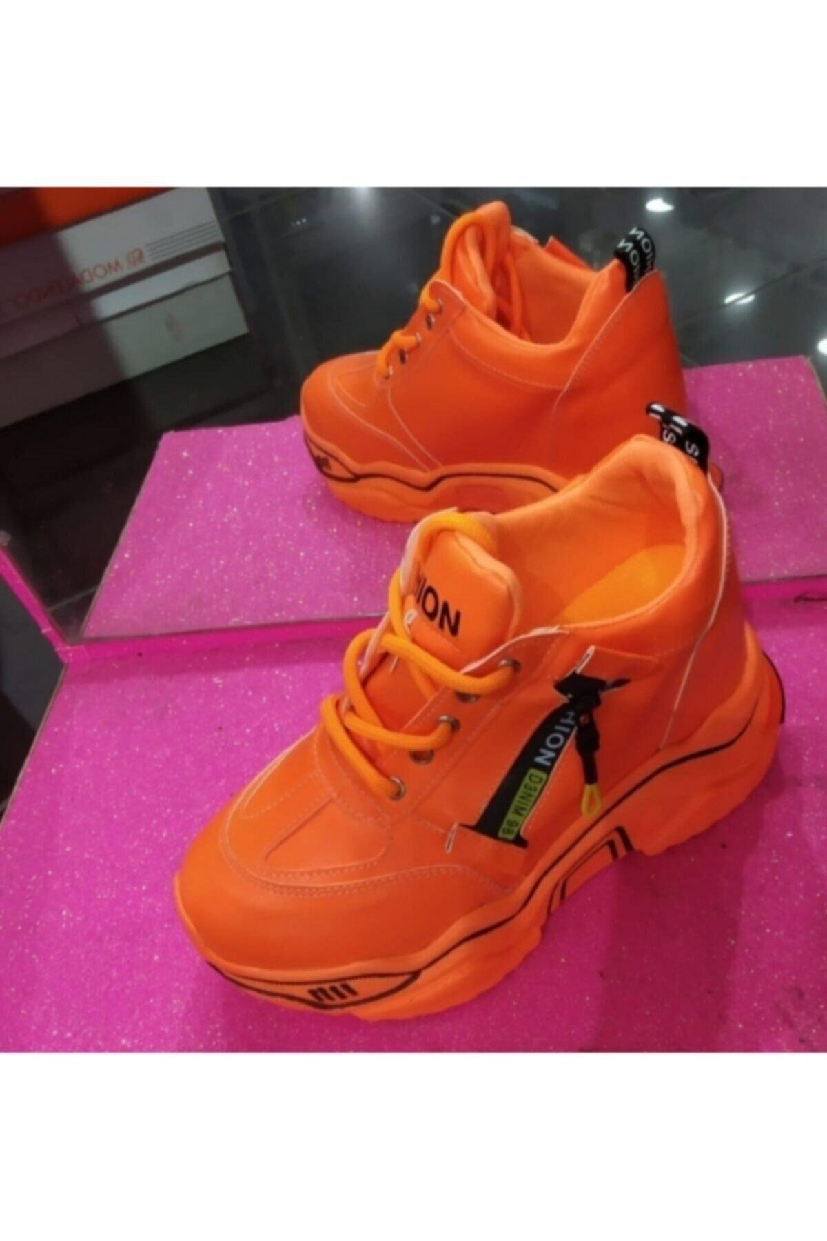 shoesinn Kadın Neon Turuncu Günlük Ayakkabı 2