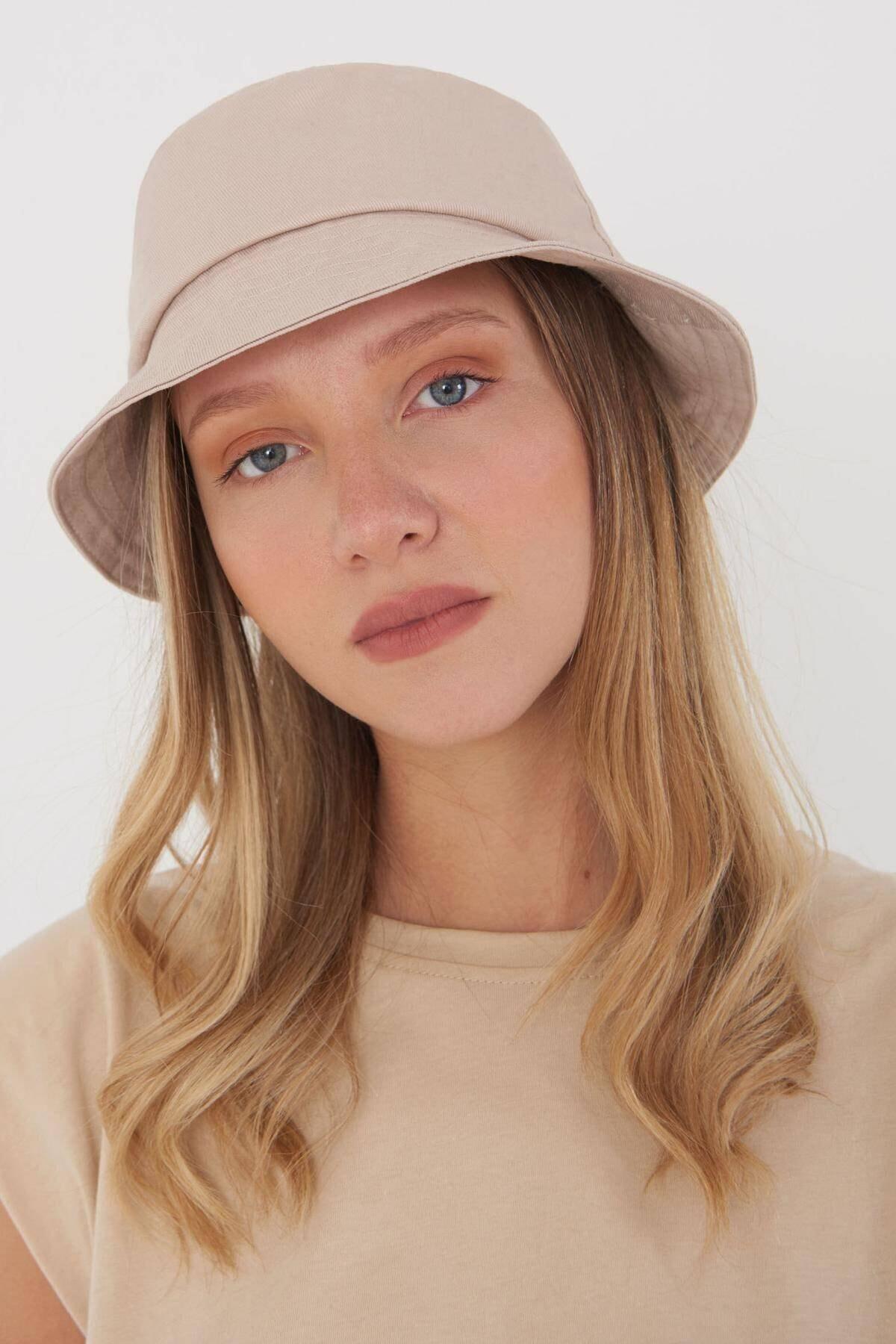 Addax Kadın Bej Şapka