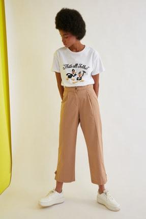 TRENDYOLMİLLA Camel Pilili Pantolon TWOSS21PL0394