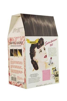 Marvel Colors Herbal Naturel Hair Saç Boyası 6.1 Koyu Küllü Kumral