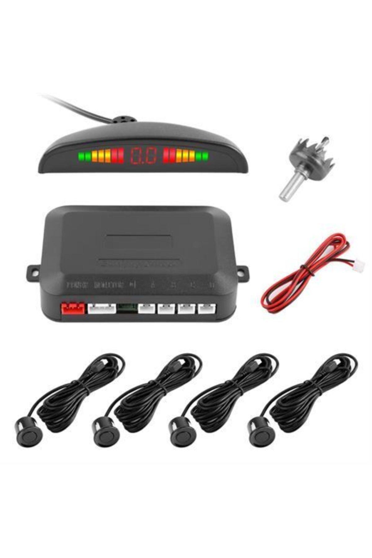 My4Car Türkçe Konuşmalı Ekranlı Siyah Sensörlü Araç Park Sensörü 428808 1