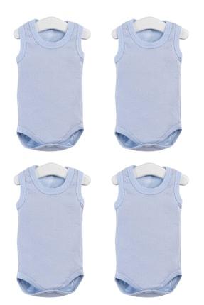 Pattaya Kids Erkek Bebek Mavi Çıtçıtlı Kolsuz Body 0-36 Ay Ptk20s-402