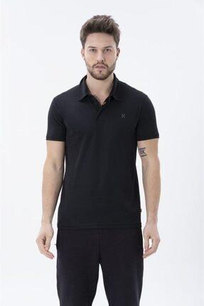 Exuma Erkek Siyah Polo Yaka Tişört 1912088-010