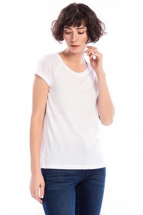 Mustang Kadın T-shirt Beyaz