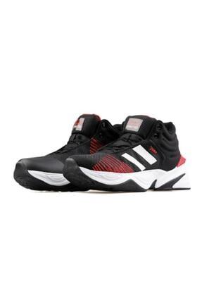Jump Unisex Siyah Kırmızı Beyaz Basket Ayakkabısı