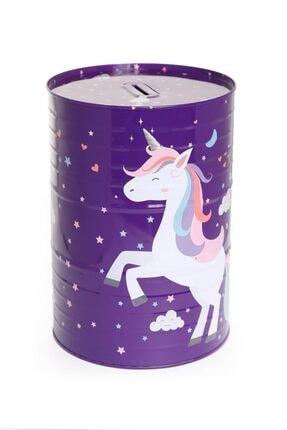 VUKİ Mor Mega Boy Unicorn Teneke Kumbara