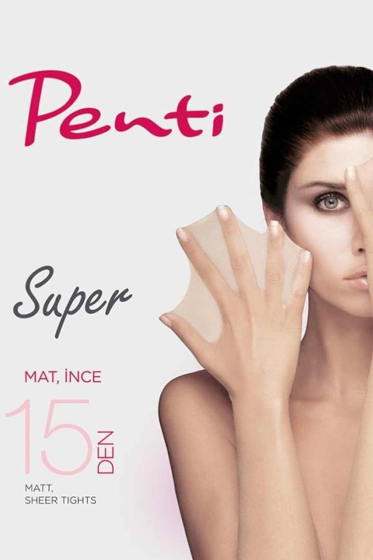 Penti Kadın 3'lü Paket Ten Rengi Süper 15 Den Mat Ince Külotlu Çorap 2