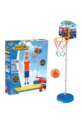 DEDE Harika Kanatlar Ayarlanabilir Ayaklı Basket Potası- Basketball Hoop