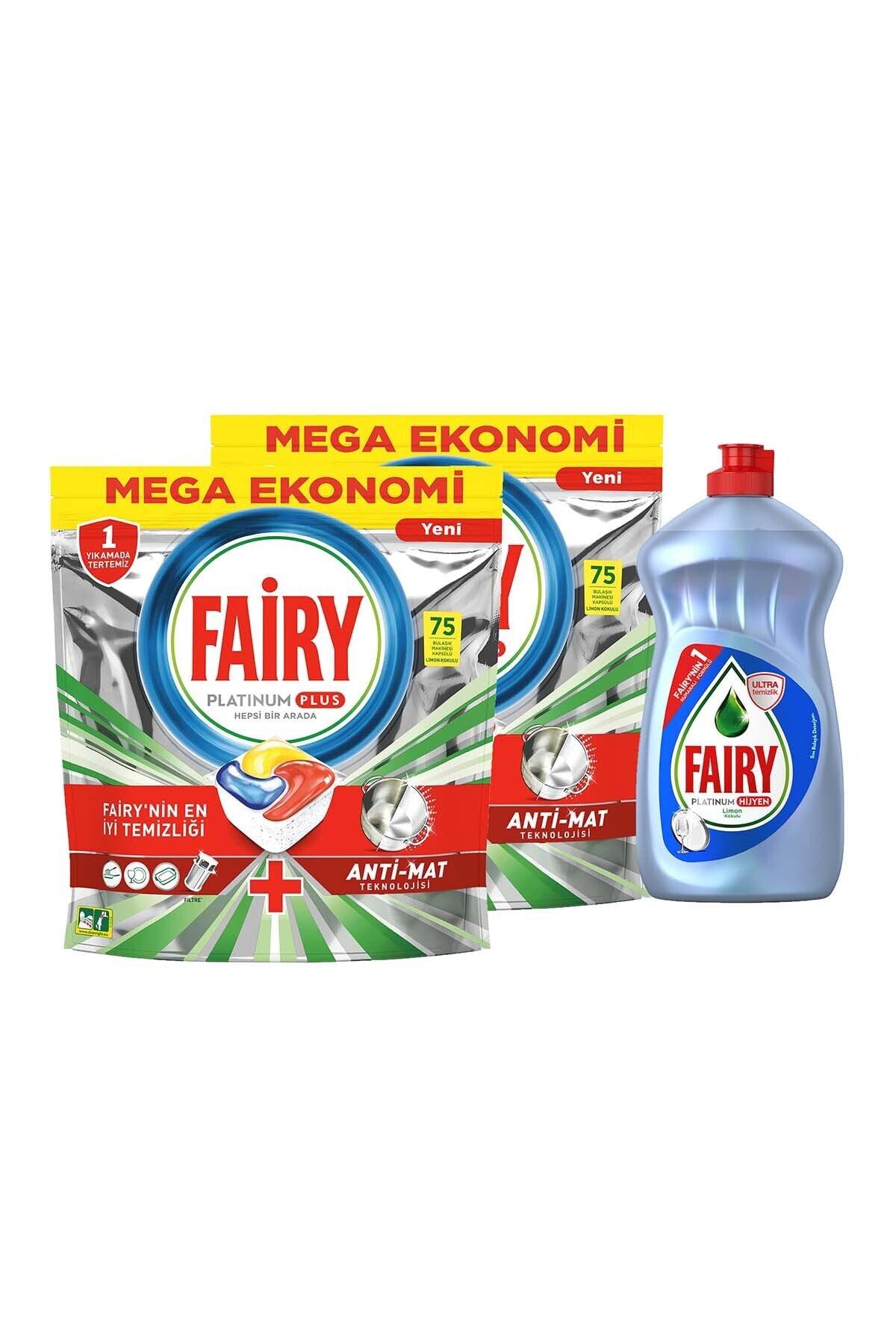 Fairy Platinum Plus 150 Kapsül Bulaşık Makinesi Deterjanı + 500 ml Elde Bulaşık Deterjanı Hijyen 2