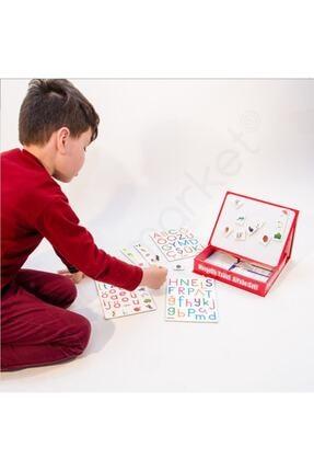 Dıy Toy/Taba Grup Manyetik Tablet Alfabe, Yazı Tahtası, Eğitim Seti, Zeka Geliştirici, Mıknatıslı Harfler