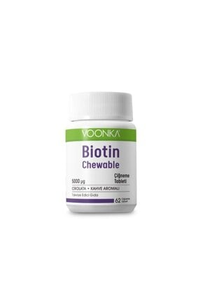 Voonka Biotin 5000 Mcg 62 Çiğneme Tableti
