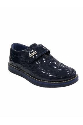 Scor Erkek Çocuk Lacivert Rugan Cırtlı Ayakkabı Vltr06