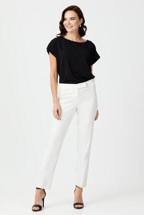 Ekol Kadın Ekru Dar Parça Pantolon
