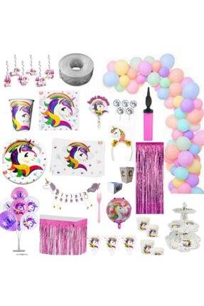 İzmir Partystore Unicorn 8 Kişilik Ultra Lüks Doğum Günü Parti Seti Izmir Party Store