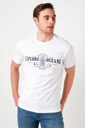 LC Waikiki Erkek Canlı Beyaz Tişört