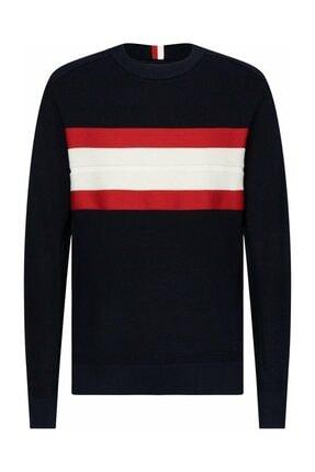 Tommy Hilfiger Erkek Rıbbed Chest Strıpe Sweater