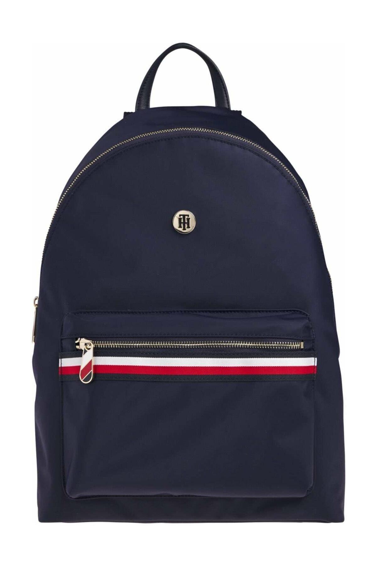 Tommy Hilfiger Kadın Mavi Sırt Çantası Poppy Backpack Corp AW0AW08823 1