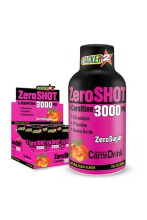 Zero Shot 60 ml 3000mg L-carnitine 12 Adet - Şeftali Aroma -