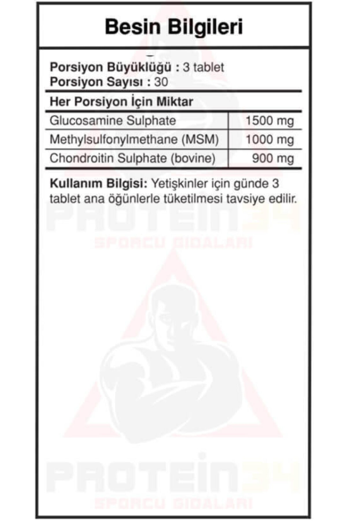 Big Joy Bigjoy Glucosamine Chondoitine & Msm 90 Tablet 2