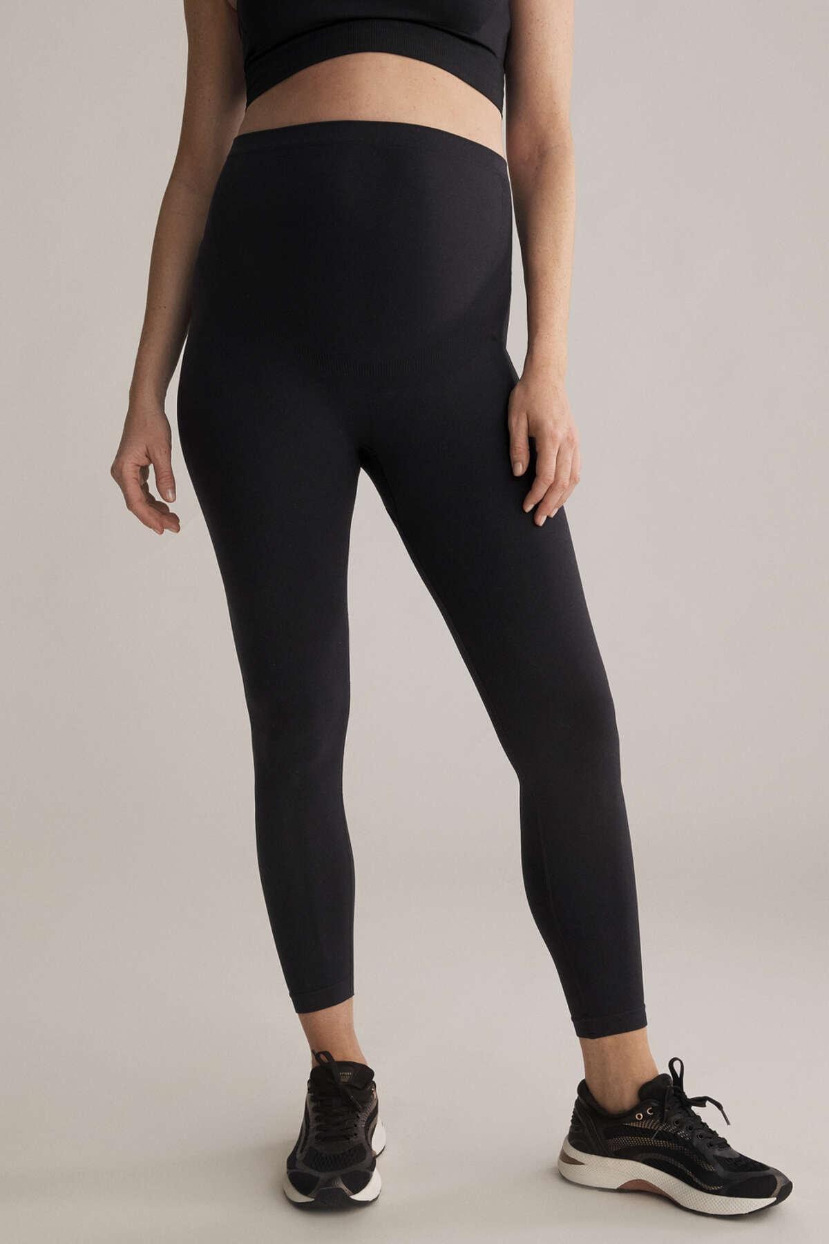 Oysho Kadın Siyah Maternity Seamless Leggings 31256227