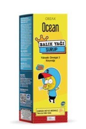 Orzax Ocean Tutti Frutti Aromalı Balık Yağı Şurubu 150 ml