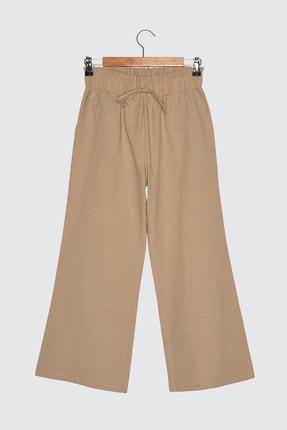 TRENDYOLMİLLA Camel Geniş Paça Pantolon TWOSS21PL0526
